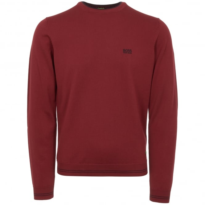 Boss Green Dark Red Rime Jumper