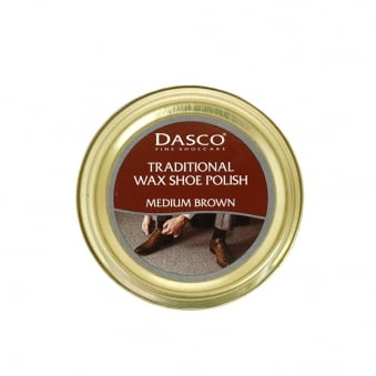 Dasco Traditional Wax Shoe Polish Medium Brown Shoecare A3232DND