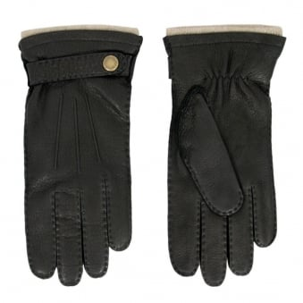Dents Black Deerskin Gloves 5-1548