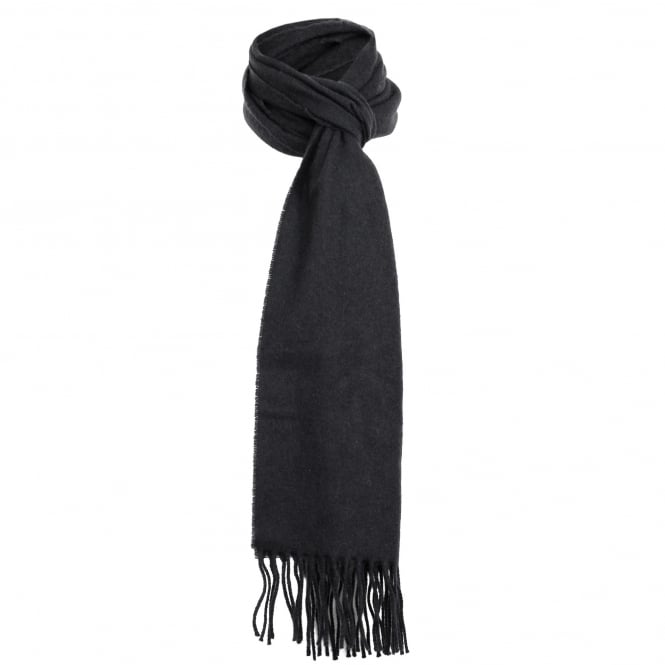 Dents Black Lambswool Scarf 2-2002