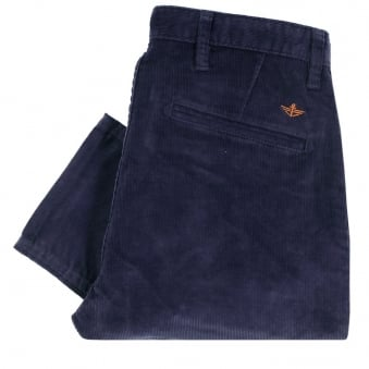 Dockers Alpha Navy Eclipse Tapered Corduroy Trousers 47122-0099