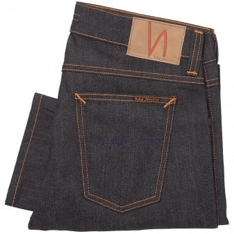 Dry Pure Navy Tilted Tor Jeans - Skinny Fit