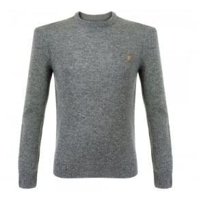 Farah Rosecroft Gravel Marl Wool Jumper FEFG0124