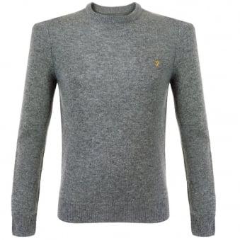 Farah Rosecroft Gravel Marl Wool Jumper FEFG0124