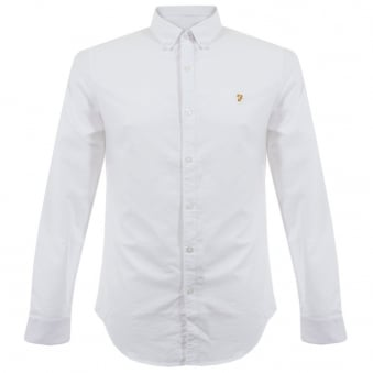 Farah Vintage Brewer White Shirt F4WS4054