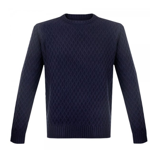 Farah Vintage Heaney True Navy Jumper F9GF5047