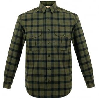 Filson Alaskan Otter Green Flannel Shirt 11012006