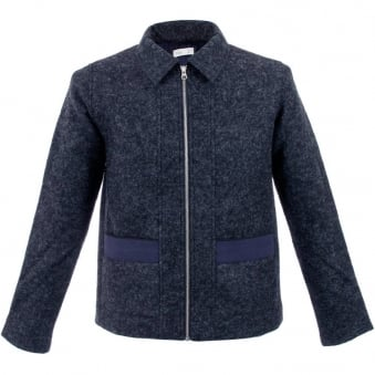 Folk Layered Bright Navy Pocket Jacket F2404