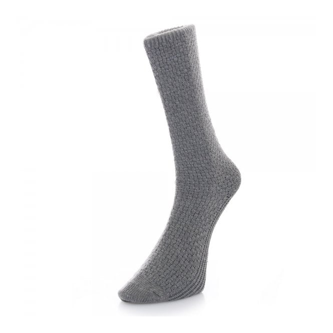 Folk Clothing Folk Light Grey Waffle Socks F25104A