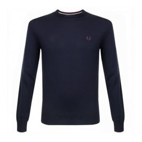 Fred Perry Classic Merino Wool Dark Carbon Jumper K7211