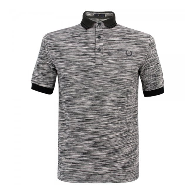 Fred Perry Laurel Wreath Fred Perry Laurel Static Grey Marl Polo Top M5122-557