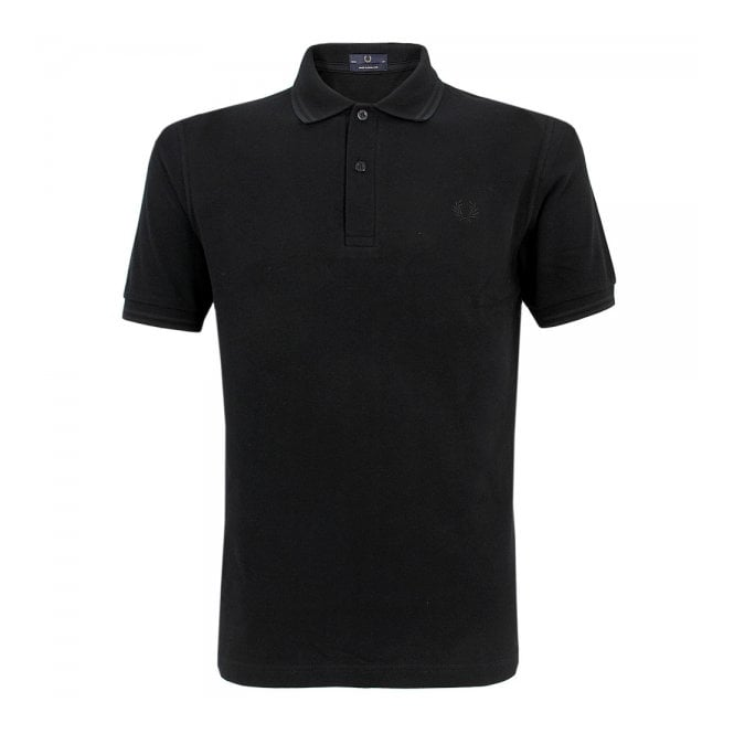 Fred Perry Laurel Wreath Fred Perry Laurel Twin Tipped Black Polo Shirt M12