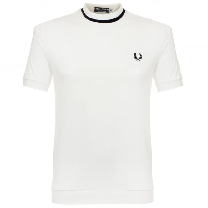 Fred Perry Laurel Wreath Fred Perry Pique Snow White T-Shirt M4127 752