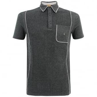 Gabicci Patterned Dark Grey Polo Shirt V33GX13