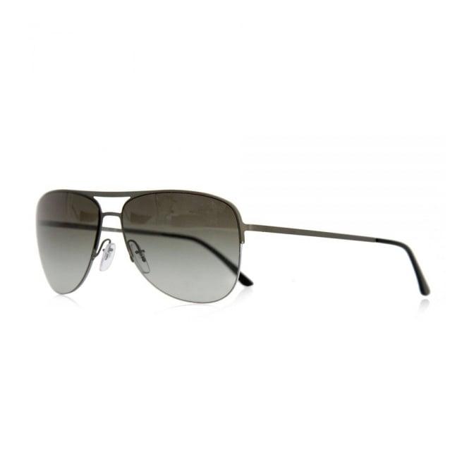 Giorgio Armani Sunglasses Giorgio Armani Metallic Silver Green Sunglasses AR6007
