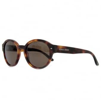 Giorgio Armani Retro Round Shape Tortoise Sunglasses AR8005