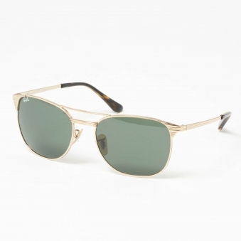 Gold Signet Sunglasses - Green Classic G-15 Lenses