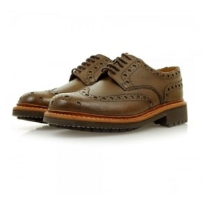 Grenson Archie Commando Dark Brown Brogue Shoes 5067
