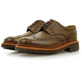 Grenson Archie Commando Dark Brown Brogue Shoes 5067