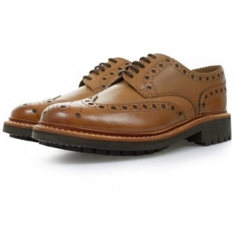 Grenson Archie Commando Tan Brogue Shoes 5067/451C