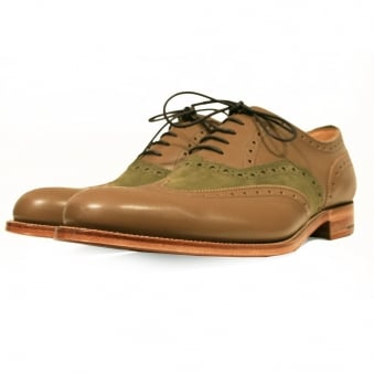 Grenson X Stuarts London G Lab Caribou Brogue Shoe