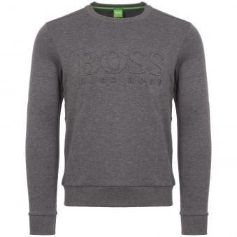 Grey Embossed Logo Sweatshirt