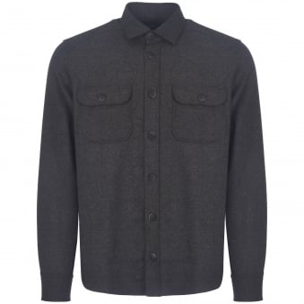 Grey Flannel Shirt Jacket