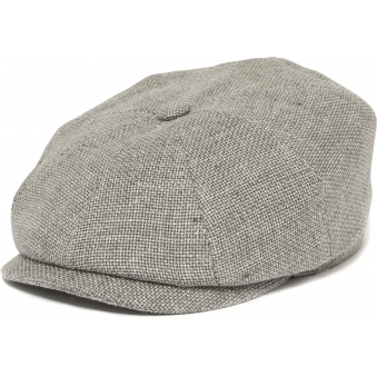 Grey Hatteras Ellington Flat Cap