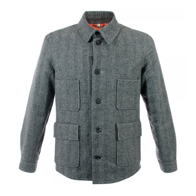 DEADSTOCK Hardy Amies Herringbone Light Grey Wool Jacket 356LG