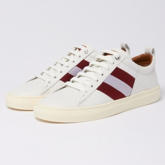 Helvio Leather Trainers - White