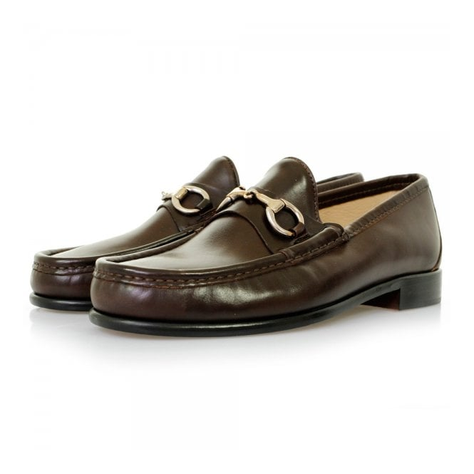 Horatio Beaufoy Brown Leather Loafer Shoes BRN1001