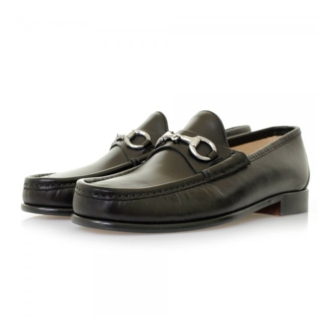 Horatio Horation Beaufoy Black Leather Shoes BLK1002