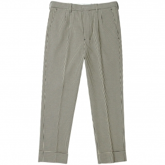 Houndstooth Pleated Carrot Fit Trousers