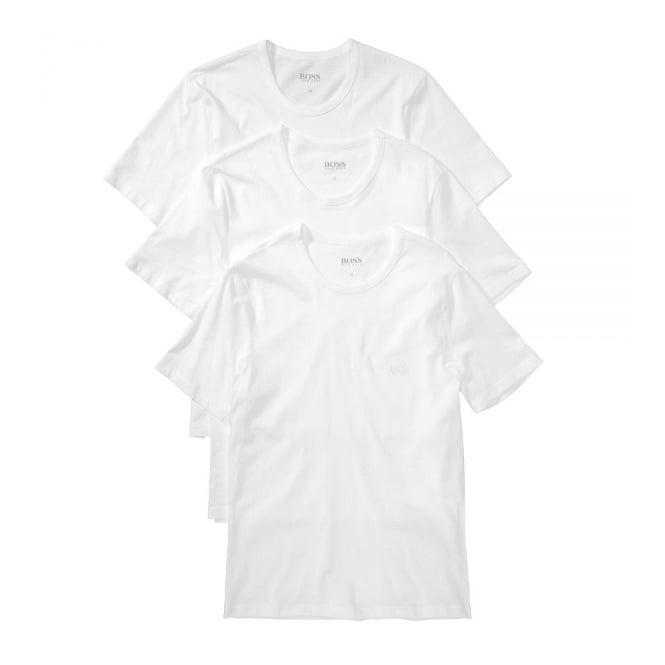 d7b4003c Hugo Boss 3 Pack White Cotton T-Shirts 50236738