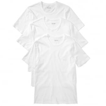 Hugo Boss 3 Pack White Cotton T-Shirt 50236738