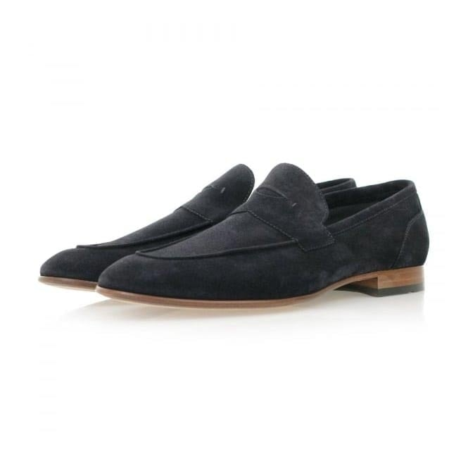BOSS Hugo Boss Hugo Boss Artiloseo Dark Blue Suede Loafer Shoes 50310478