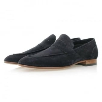 Hugo Boss Artiloseo Dark Blue Suede Loafer Shoes 50310478