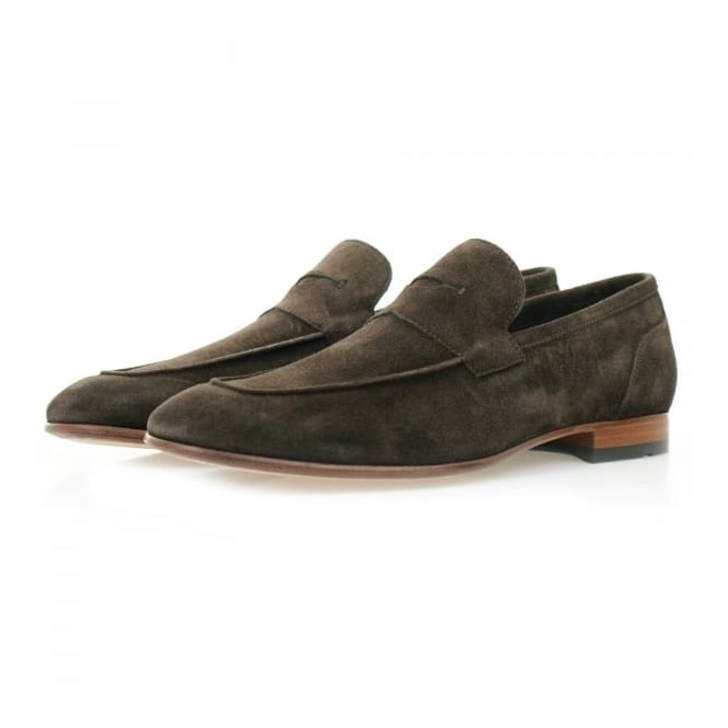 BOSS Hugo Boss Hugo Boss Artiloseo Dark Brown Suede Loafer Shoes 50310478