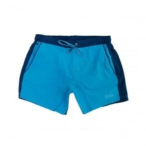 Hugo Boss Black 2 Tone Blue Beachwear Shorts 50286801