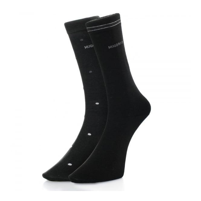 BOSS Hugo Boss Hugo Boss Black Double Pack Patterned Black/Grey Socks 50312862