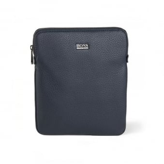 Hugo Boss Black Gotio Leather Shoulder Bag Navy 50297609 401