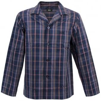 Hugo Boss Black Pyjama 2 Check Open Blue Pyjama Set 50260112