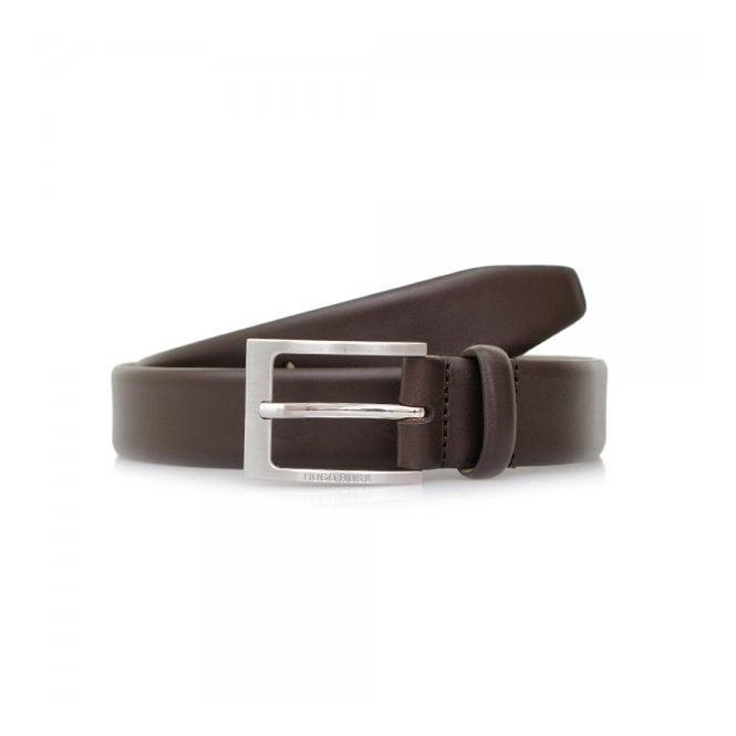 BOSS Hugo Boss Hugo Boss Brondon Dark Brown Leather Belt 50292248