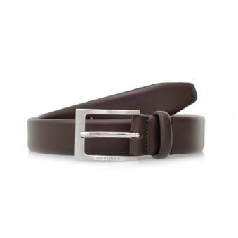 Hugo Boss Brondon Dark Brown Leather Belt 50292248