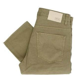 Hugo Boss C-Delaware1-20 Pastel Light Brown Corduroy Trousers 50308473