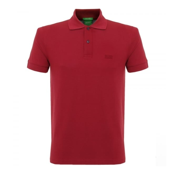 Boss Green Hugo Boss C-Firenze Logo Dark Red Polo Shirt 29233