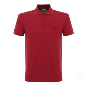 Hugo Boss C-Firenze Logo Dark Red Polo Shirt 29233