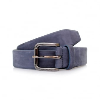 Hugo Boss Cansianabu Dark Blue Leather Belt 50299685