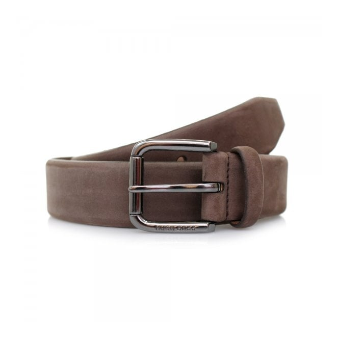 BOSS Hugo Boss Hugo Boss Cansianabu Dark Brown Leather Belt 50299685