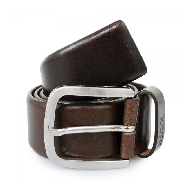 BOSS Hugo Boss Hugo Boss Dark Brown Leather Belt 50206885